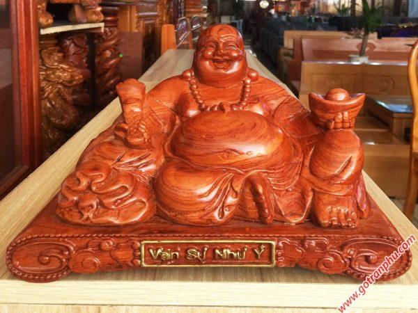 Tượng Phật Di Lặc gỗ Hương 30cm TG016 (5)
