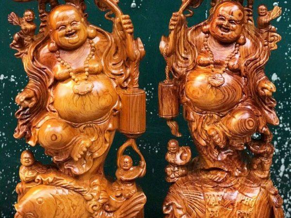 Tượng Phật Di Lặc gỗ Hương 60cm TG031 (3)