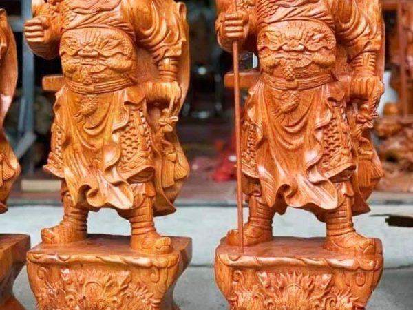 Tượng Quan Công gỗ Hương 40cm 60cm TG025-26 (2)