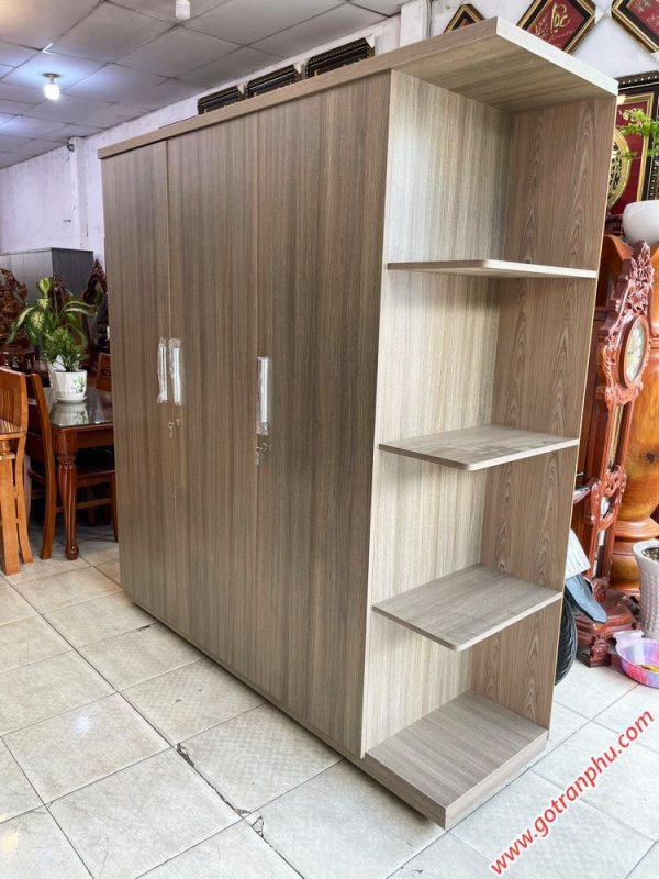 Tủ quần áo gỗ MFC có kệ góc 1m8 TA067 (1)