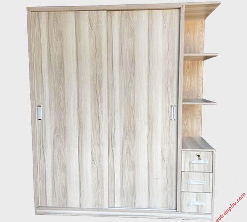 Tủ quần áo gỗ MFC cửa lùa kệ góc 1m6 TA066 (4)