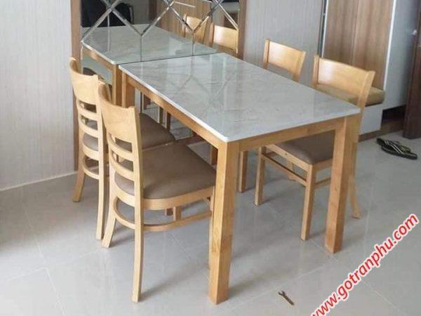 Bàn ăn cabin 4 ghế giả đá BA004 (4)