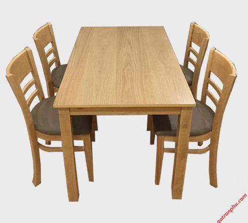 Bàn ăn Cabin 4 ghế mặt gỗ BA002