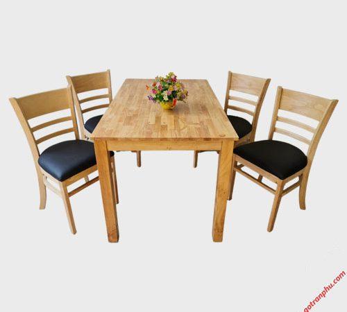 Bàn ăn Cabin 4 ghế nệm Veneer BA006 1