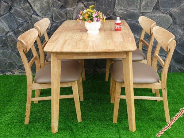 Bàn ăn Mango 4 ghế mặt gỗ BA033