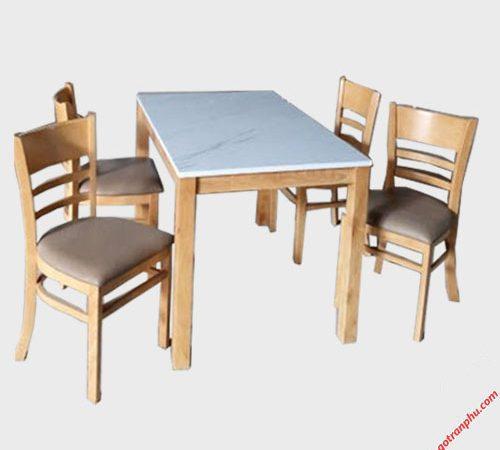 Bàn ăn cabin 4 ghế giả đá BA004 (3)