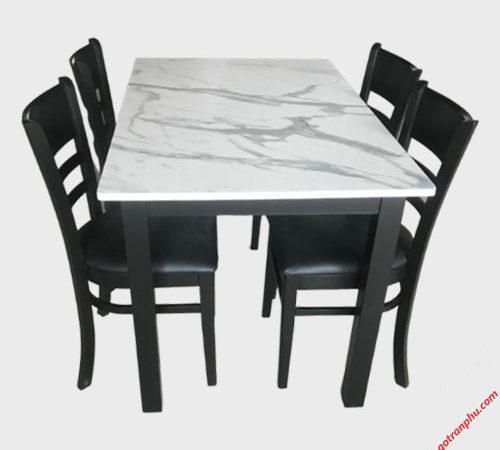 Bàn ăn Cabin 4 ghế nệm giả đá BA024 (3)