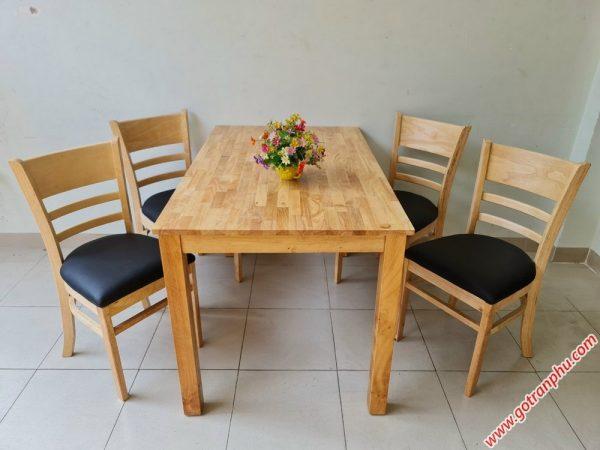 Bàn ăn cabin 4 ghế nệm veneer BA006