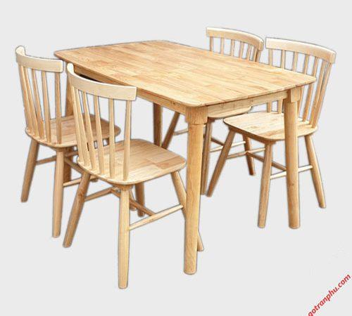 Bàn ăn Mango 4 ghế mặt gỗ BA033 (3)